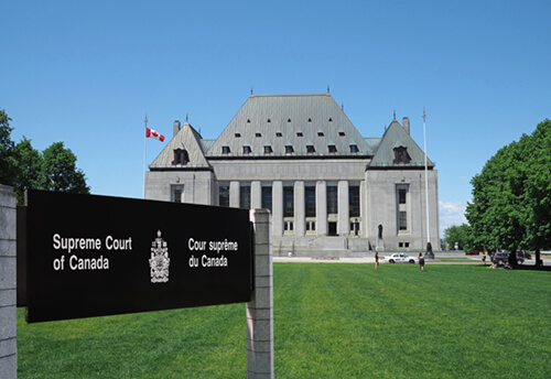 Photo of the Supreme Court of Canada building